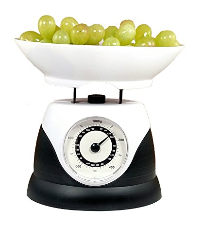 Portion Perfect Kitchen Scale with Removable Bowl and 1000 Gram or 35 Ounces Weight Capacity. Perfect for Cooks, Dieters and Families. Must Have Kitchen Item.
