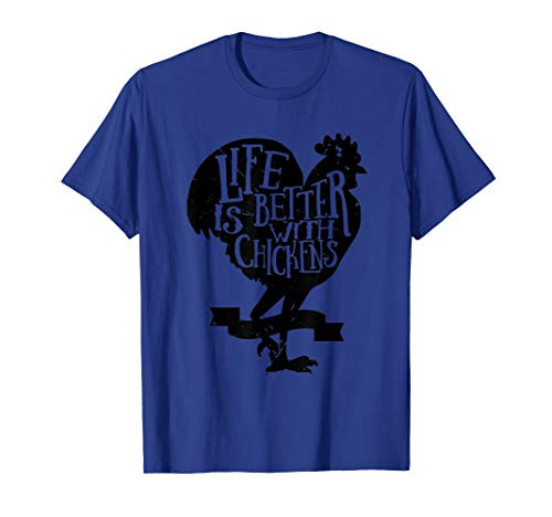 Life Is Better With Chickens Crazy Farmer Lady Quote T Shirt ()
