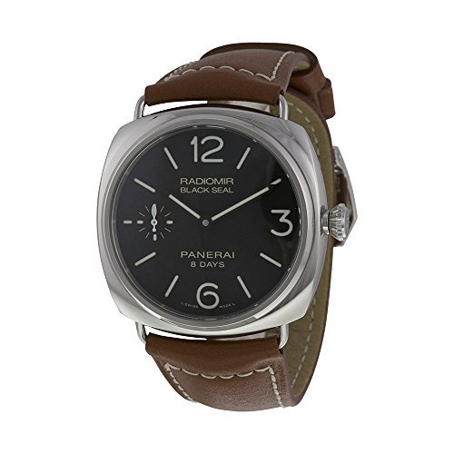 Panerai Radiomir Negro Dial Brown Cuero Mens Reloj pam00609 por Panerai