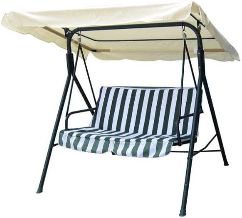 75″x52″ Ivory Swing Canopy Replacement Porch Top Cover Park Seat Furniture Patio