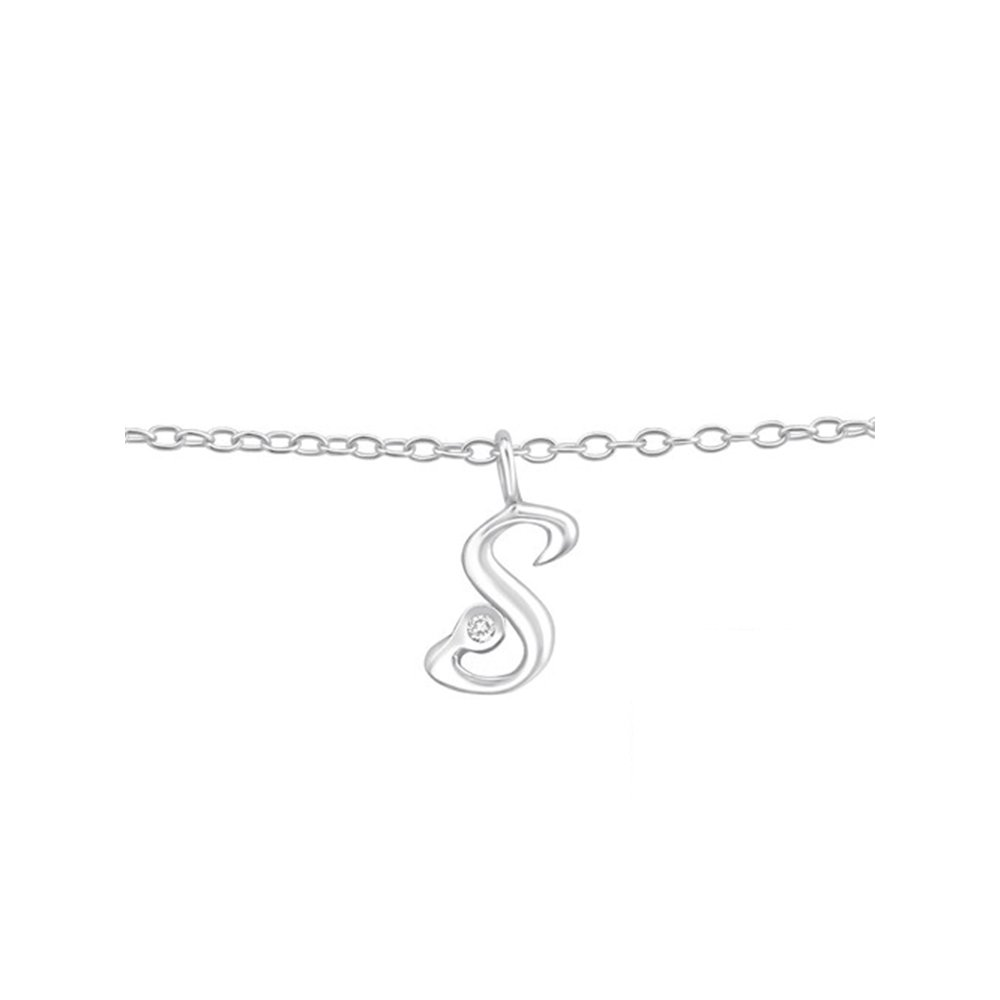 Worldjewelry 925 Sterling Silver s'' Silver Anklets