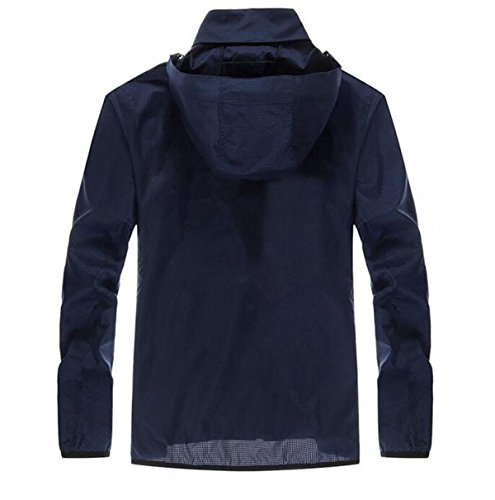 Giacca Outdoor Maschile Blue Sottile Pelle Vento Essiccazione A Contro Upf30 BAAwqHY