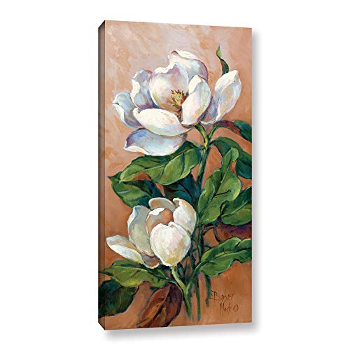 ArtWall Barbara Mock's Magnolia Accents I, Gallery Wrapped Canvas 18x36