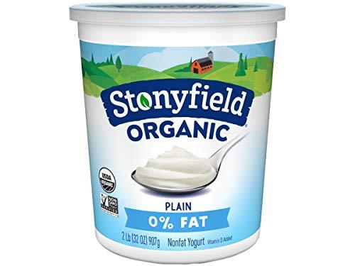 Stonyfield Farm Organic Plain Yogurt, 32 Ounce -- 6 per case.