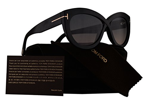 Tom Ford FT0577 Diane-02 Sunglasses Shiny Black w/Grey Pink Gradient Lens 01B TF577 - Ford New Tom Sunglasses