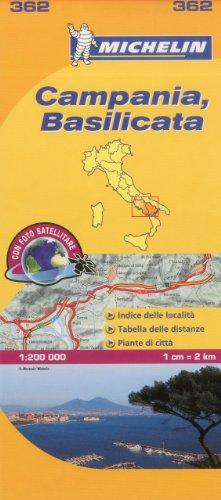 Michelin Map Italy: Campania, Basilicata 362 (Maps/Local (Michelin)) (Italian Edition)
