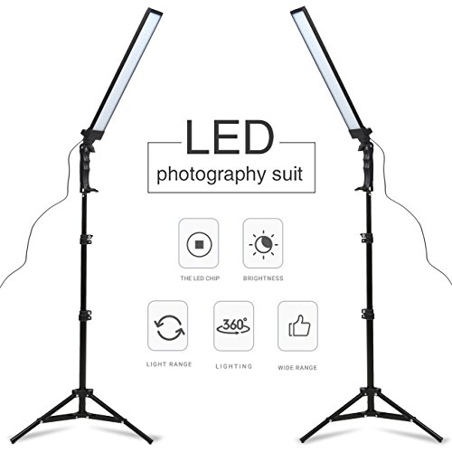 (GSKAIWEN 180 LED Light Photography Studio LED Lighting Kit Adjustable Light with Light Stand Tripod Photographic Video Fill Light)