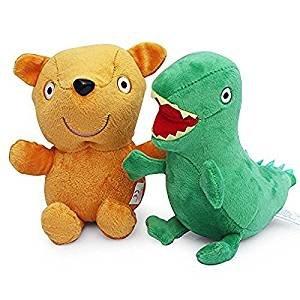 Amazon Com 2pcs Teddy Bear George Dinosaur Plush Doll Stuffed