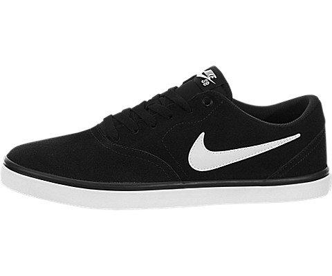 (Nike Men's SB Check Solarsoft Skate Shoe Black/White 9 D(M) US)