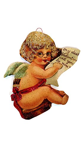 (Valentine's Day Ornament Decoration Victorian Cherub Angel Handmade Holiday Gift)