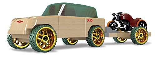 Automoblox Mini X10 Timber Pack - SUV with Trailer and Motorcycle