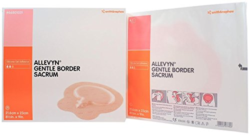 - Smith and Nephew 66801031 Allevyn Gentle Border Sacrum Dressing 8 1/2