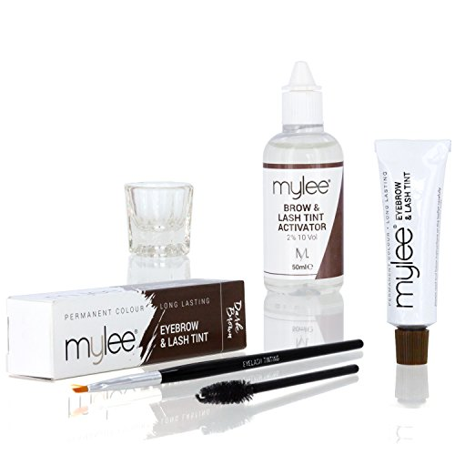 MYLEE Permanent Eyelash/Eyebrow Tint [DARK BROWN] Complete Tinting Dye...