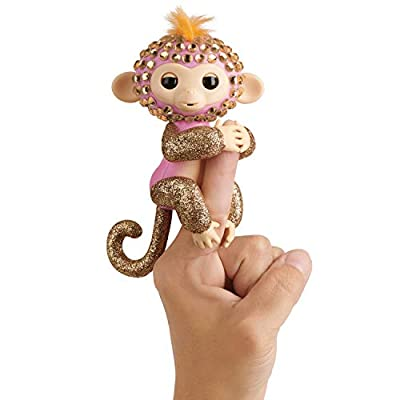 WowWee Fingerlings Monkeys - Fingerblings - Glimmer (Pink/Rose Gold) - Friendly Interactive Toy: Toys & Games