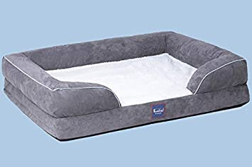 Laifug Sofa-Style Couch Dog Bed with Washable Cover Smart Design, Larger Size, More Breathable 35 Cotton Cover,Waterproof Liner, Removable Cover