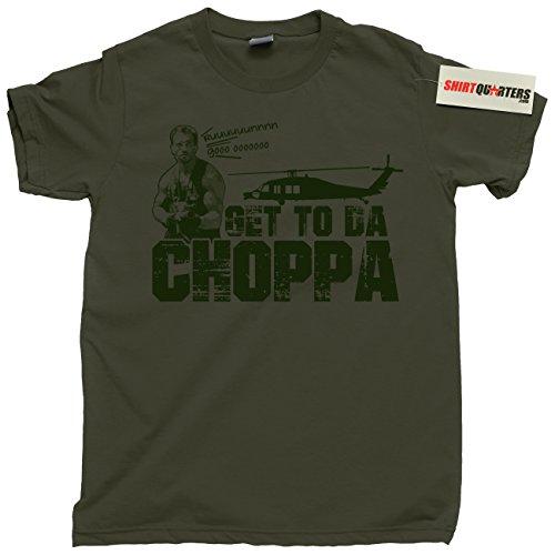 Get to da Choppa Men's Predator Movie T-shirt, 3 colors