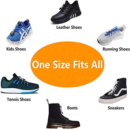 Udaily 4 Pairs or 2 Pairs No Tie Shoelaces for Kids and Adults, Elastic Shoe Laces for Sneaker