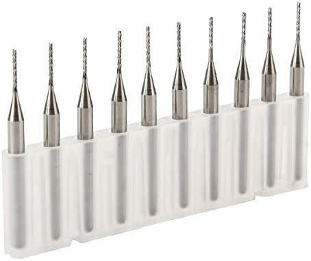 New 5pcs 1.6mm Carbide End Mill Engraving Bits for CNC//PCB Machinery Rotary Burr