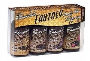 Pipedream Products, Inc. Chocolate Fantasy Body Topping Sampler Pack by Pipedream Products, (Chocolate Fantasy Body)