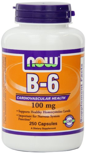 NOW Foods La vitamine B-6, 250 capsules / 100 mg