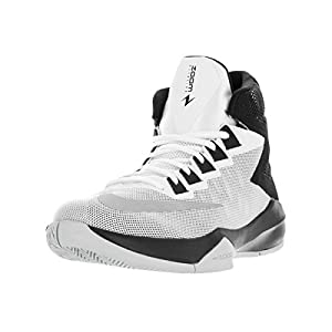 NIKE Men's Zoom Devosion White/Metallic Silver/Black Basketball Shoe 10.5 Men US