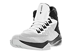 Nike Men's Zoom Devosion Whitemetallic Silver-black High-top Basketball Shoe - 10m