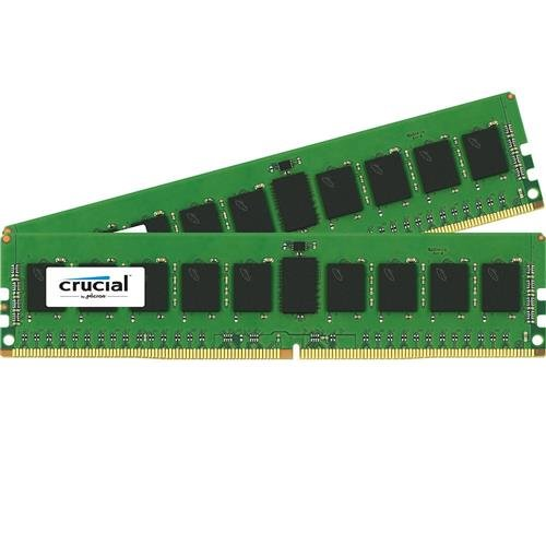 Crucial Technology 16GB (2x 8GB) 288-Pin RDIMM DDR4 (PC4-19200) Server Memory Module Kit, CL=17, Registered, 2400 MT/S Speed, ECC, 1.2V, 1024Meg x 72, Dual Rank, x8 Based by Crucial