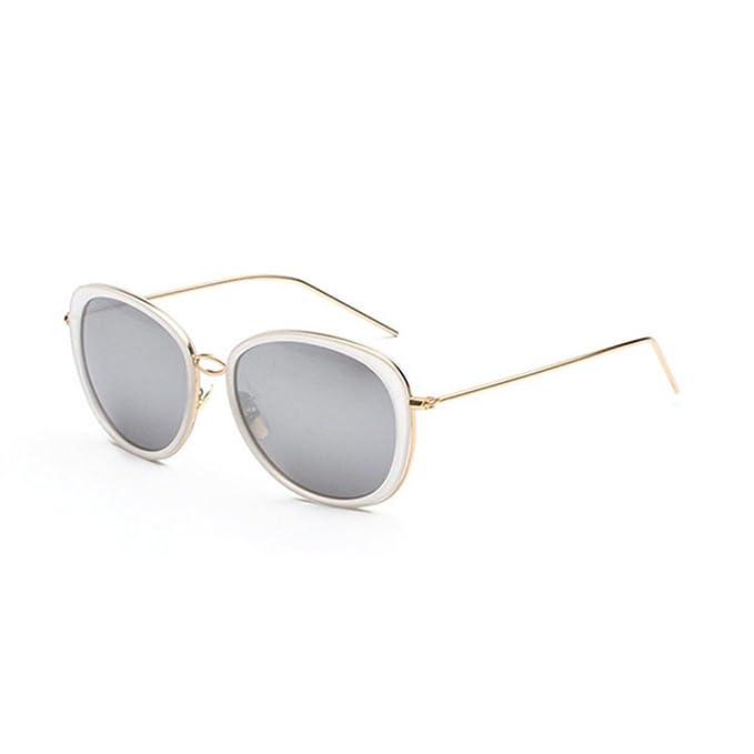 Aoligei Ovalen großen Rahmen schmalen Gesicht Sonnenbrille Flut Person Runde Gesicht Sonne Brille helle Farbe reflektierende Mode Sonnenbrillen c9YzjrUc