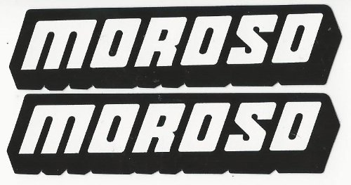 Moroso Racing Decals Stickers 4 Inches Long Size Set of (Moroso Racing)