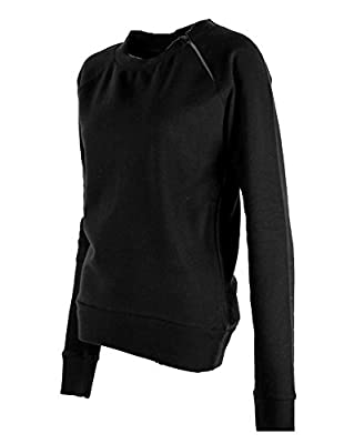 G2 Fashion Square Women's Zippered Active Cotton Casual Sweatshirt Top