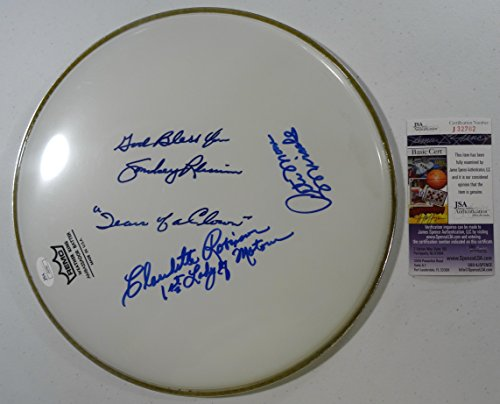 Signed Smokey Robinson & Miracles Autographed Drumhead Certified Jsa # M20414