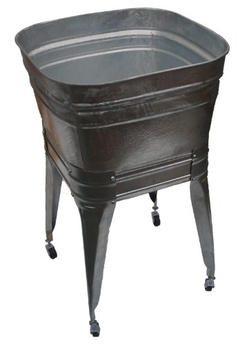 Square Wash Tub with stand and drain ()