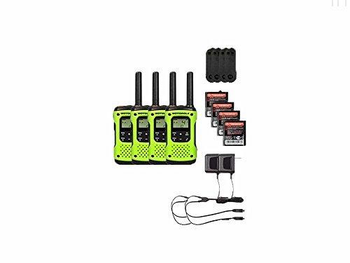 Motorola FRS/GMRS T600 Two-Way Radios / Walkie Talkies - Rechargeable & Fully Waterproof 4 PACK