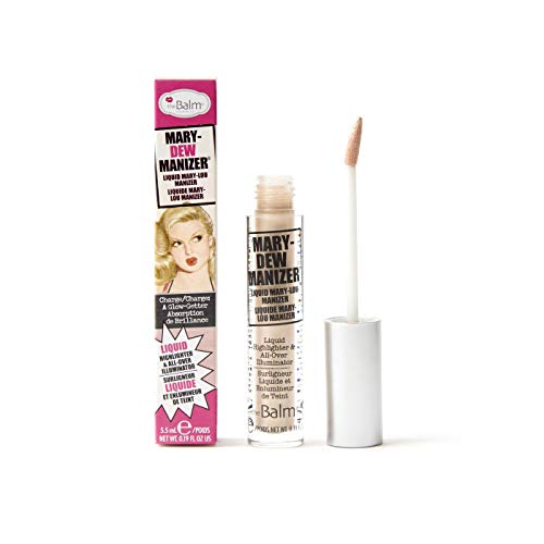 theBalm Mary-Dew Manizer Liquid Highlighter & All-Over Illuminator, 0.19 Fl Oz