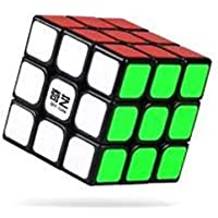 AdiChai QiYi 3 X 3 , 3 by 3 Black Base Magic Wonder Speed Cube - Excellent Rotaion and Corner Cutting