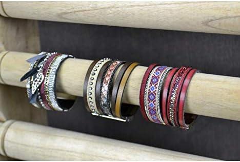 Coco Papaya Grand pr/ésentoir Bracelets et Montres 6 joncs en Bois Massif Brut