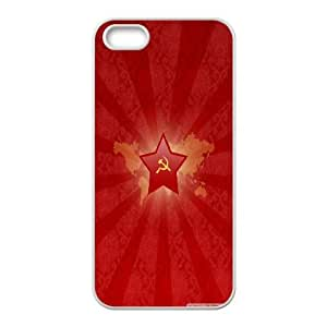Crimson Dawn IPhone 5,5S Cases, Cute Iphone 5s Cases for Girls Protector with Design Okaycosama - White
