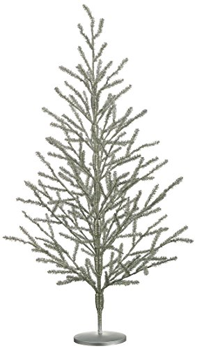 36' Tinsel Christmas Tree Antique Silver - 3 Foot Tinsel Pine Tree