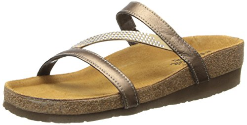 Naot Women's Hawaii Wedge Sandal, Grecian Gold Leather, 39 EU/7.5-8 M US by NAOT (Image #1)