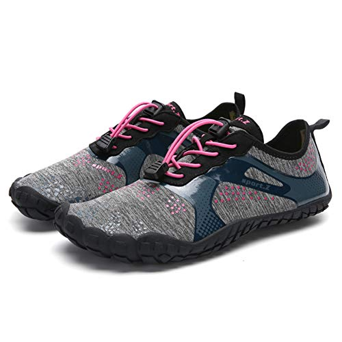 Scarpe Barefoot Grey Uomo Swim pink Immersione Shoes Hmiya Spiaggia Water Traspirante Canottaggio Da Yoga Surf Antiscivolo Donna Acqua Trail Running UEwdqv