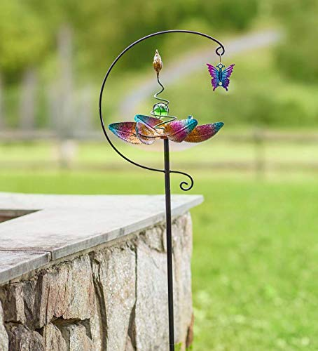 Plow & Hearth Metal Butterfly Wind Spinner Garden Stake - 9.5 L x 8.5 W x 48.75 H