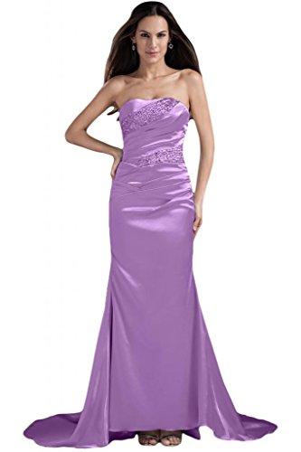 senza da con sirena cerimonia elegante Sunvary per da sera o abiti perline Lilac spalline zEgP11WZq