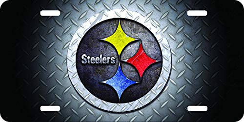 (Steelers Hand Painted Custom Personalized Vanity License Plates, Front License Auto Tag, Car Accessories)