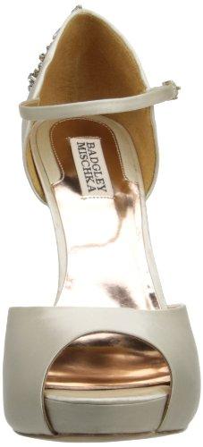 Badgley Mischka Womens Kindra Platform Pump Ivory