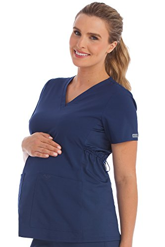 Med Couture Women's Maternity V-Neck Scrub Top