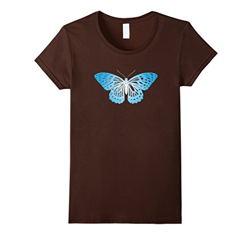 Women's Blue Butterfly T-Shirt For Nature Lovers. Novelty...
