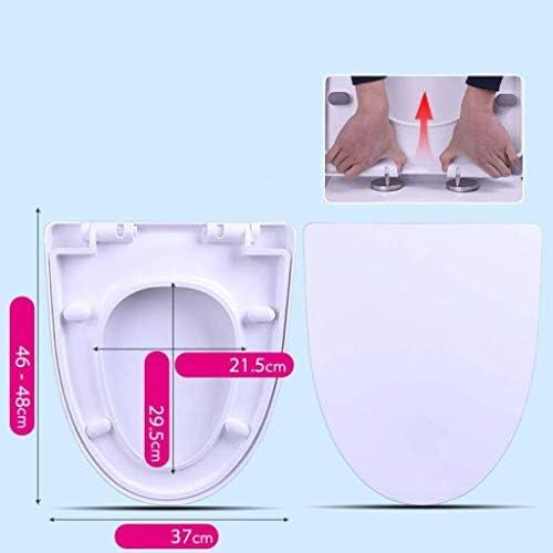 IVHJLP スローダウンサイレントユニバーサル便座は抗菌トップをスローダウン便座のV形状は、ホワイト、46〜48センチメートル* 37センチメートルをトイレのふたを肥厚マウント