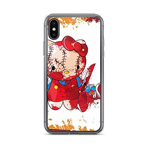 iPhone X/XS Case Anti-Scratch Animated Cartoon Transparent Cases Cover Hello Kitty Kill Chucky Cartoons Caricature Crystal Clear
