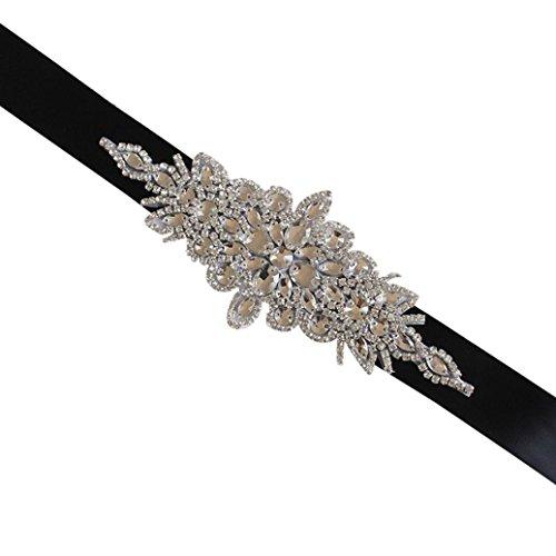 Botrong Crystal Rhinestone Handmade ❤️ Wedding Bridal Dress ❤️ Sash Belt ❤️ Women Pearl Ribbon (B)