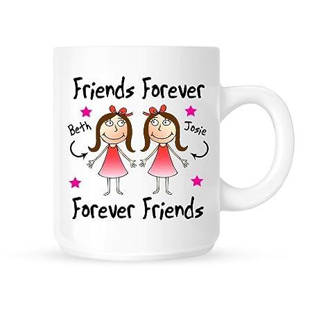 Personalised Best Friends Forever Ceramic Gift Mug Birthday Christmas Present FREE UK SHIPPING